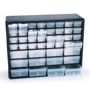 Akro-Mils 44 Drawer Storage Stackable Storage Center, Model 10744