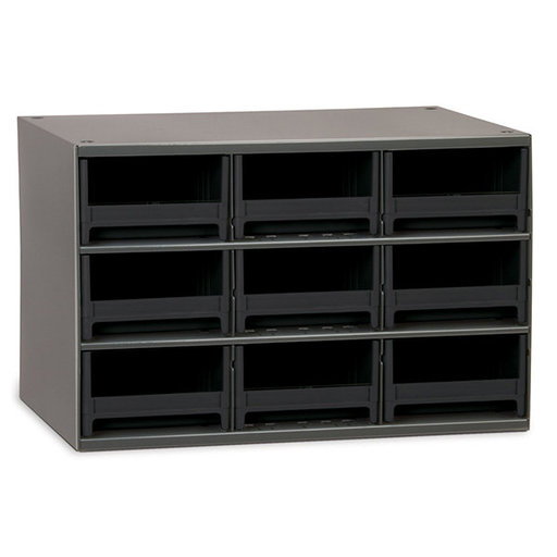 View a Larger Image of Akro-Mils 9 Drawer Steel Storage Cabinet with Black Drawers