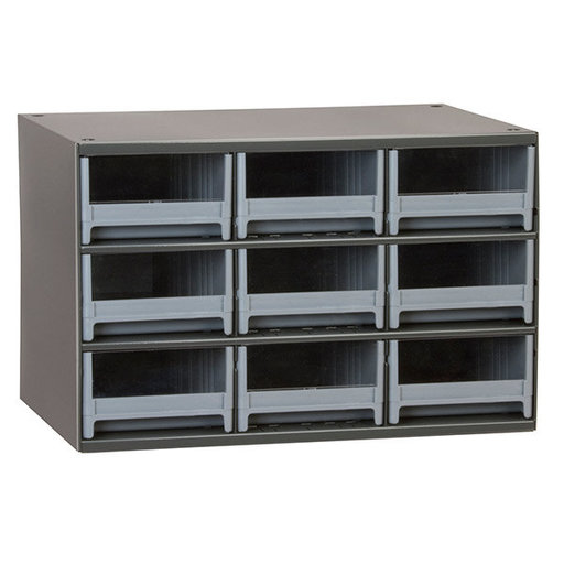 View a Larger Image of Akro-Mils 9 Drawer Steel Storage Cabinet with Gray Drawers