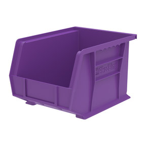 "Akro-Mils AkroBin 10.75"" L X 8.25"" W X 7"" H, Model 30239, 6 Pack - Purple"