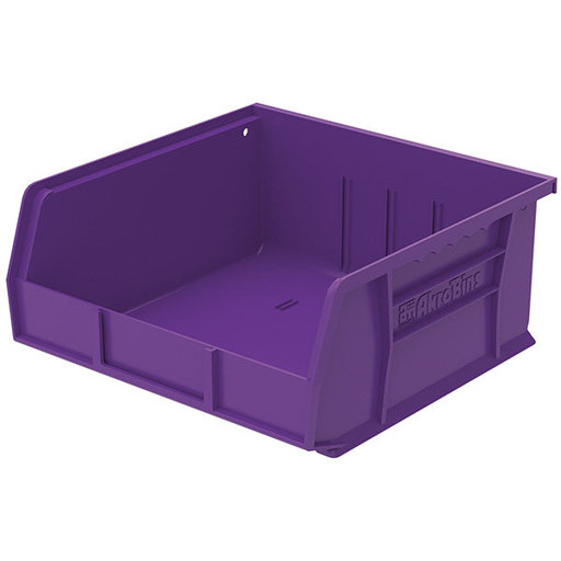 "View a Larger Image of Akro-Mils AkroBin 11"" L X 11"" W X 5"" H, Model 30235, 6 Pack - Purple"