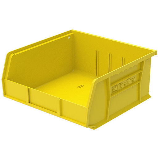 "View a Larger Image of Akro-Mils AkroBin 11"" L X 11"" W X 5"" H, Model 30235, 6 Pack - Yellow"