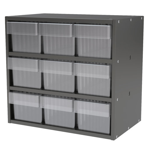 View a Larger Image of Akro-Mils Charcoal Gray Modular Cabinet with Clear Model 31162 AkroDrawers