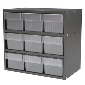 Akro-Mils Charcoal Gray Modular Cabinet with Clear Model 31162 AkroDrawers