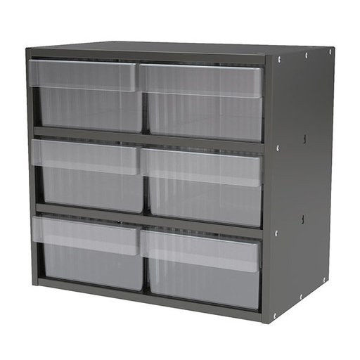 View a Larger Image of Akro-Mils Charcoal Gray Modular Cabinet with Clear Model 31182 AkroDrawers