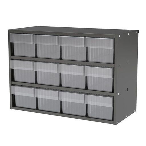 View a Larger Image of Akro-Mils Charcoal Grey Modular Cabinet with Clear Model 31162 AkroDrawers