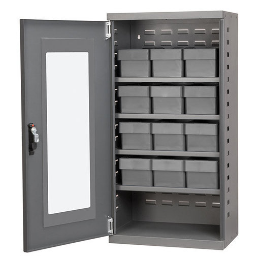 View a Larger Image of Charcoal Mini-Cabinet with 12 Gray Model 31162 AkroDrawers