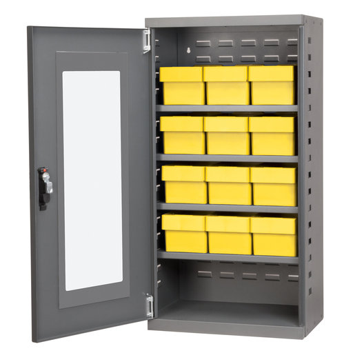 View a Larger Image of Charcoal Mini-Cabinet with 12 Yellow Model 31162 AkroDrawers