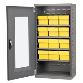 Charcoal Mini-Cabinet with 12 Yellow Model 31162 AkroDrawers