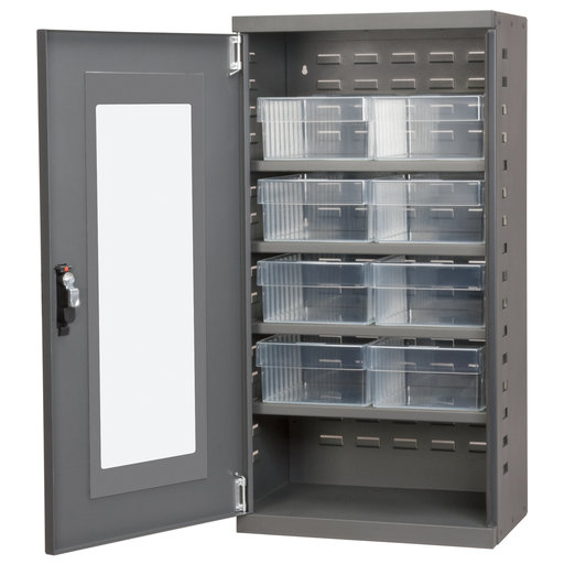 View a Larger Image of Charcoal Mini-Cabinet with 8 Clear Model 31182 AkroDrawers