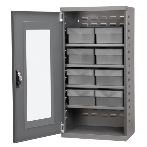 View a Larger Image of Charcoal Mini-Cabinet with 8 Gray Model 31182 AkroDrawers