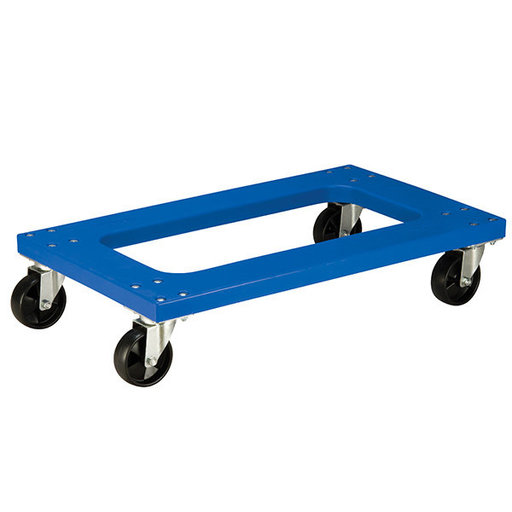 "View a Larger Image of Akro-Mils Flush Poly Dolly, Blue, w/ 4"" Poly Casters"