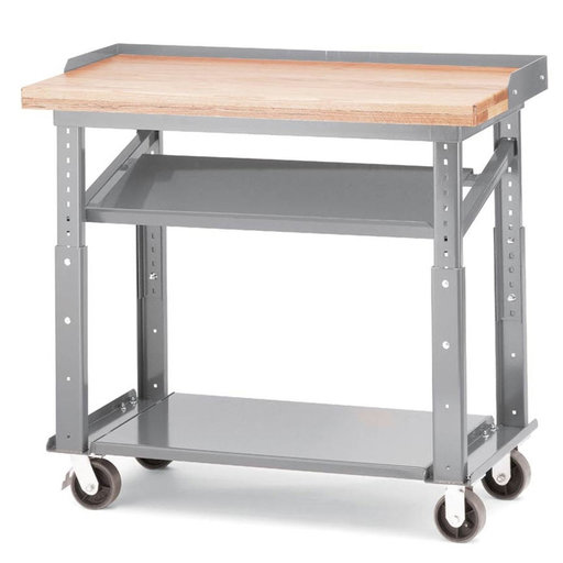 View a Larger Image of Akro-Mils Multi-Shelf Mobile Work Table