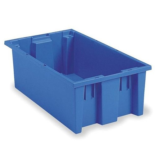 "View a Larger Image of Akro-Mils Nest and Stack Tote, 18""L x 11""W x 6""H, Model 35180 Blue, Set of Six"