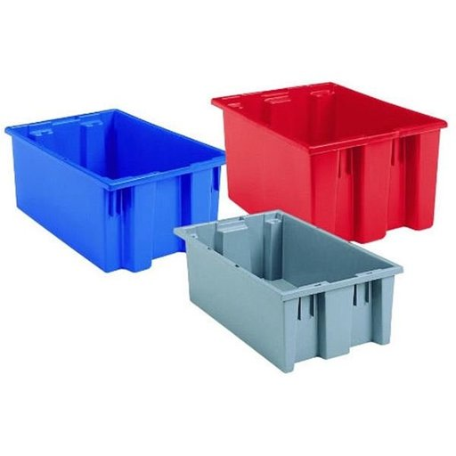 View a Larger Image of Akro-Mils Nest and Stack Tote Lid for Model 35240, Red, Set of Three