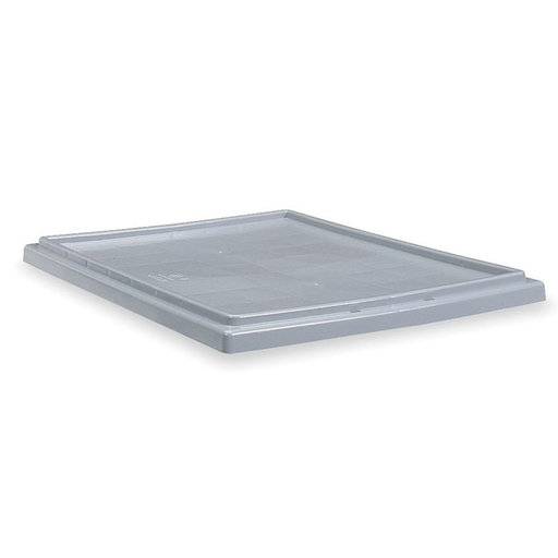 View a Larger Image of Akro-Mils Nest and Stack Tote Lid for Models 35180 and 35185, Gray, Set of Six