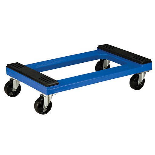 "View a Larger Image of Akro-Mils Padded Poly Dolly, Blue, w/ 4"" Poly Casters"