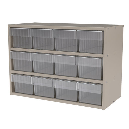 View a Larger Image of Akro-Mils Putty Colored Modular Cabinet with Clear Model 31162 AkroDrawers