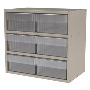 Akro-Mils Putty Colored Modular Cabinet with Clear Model 31182 AkroDrawers