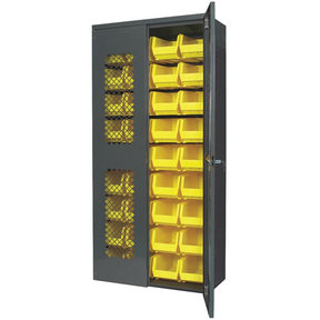 "Akro-Mils Secure View AkroBin Cabinet with Assorted Bins, 36""W x 18""D x 78""H, Model AC3618SV240"