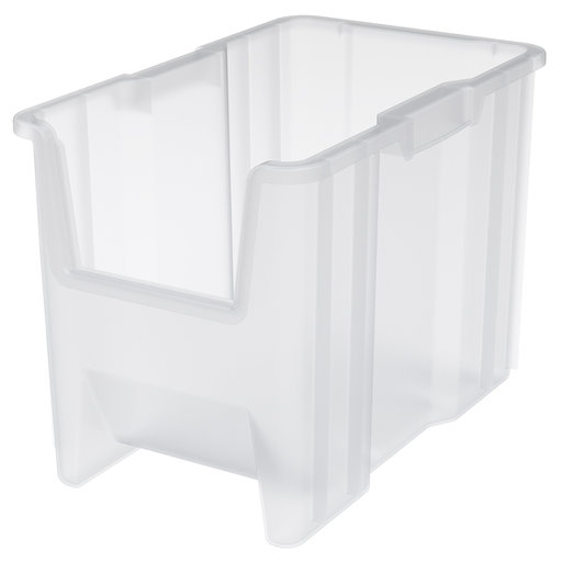 View a Larger Image of Akro-Mils Stak-N-Store Bin, Model 13014, Set of 4 - Clear