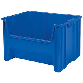 Akro-Mils Stak-N-Store Bin, Model 13017, Set of 3 - Blue