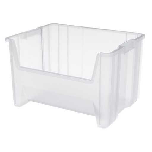 View a Larger Image of Akro-Mils Stak-N-Store Bin, Model 13017, Set of 3 - Clear