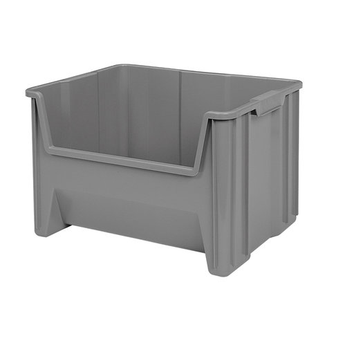 View a Larger Image of Akro-Mils Stak-N-Store Bin, Model 13017, Set of 3 - Gray