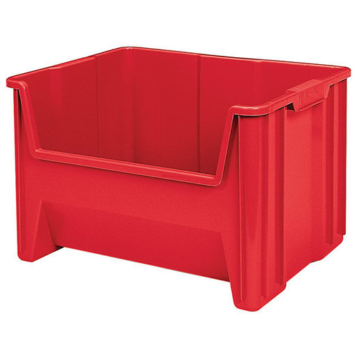 View a Larger Image of Akro-Mils Stak-N-Store Bin, Model 13017, Set of 3 - Red