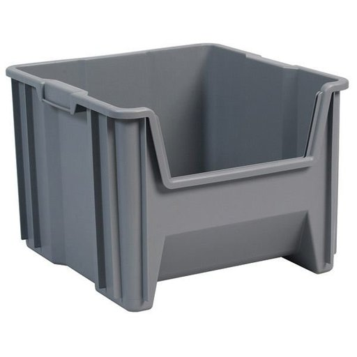 View a Larger Image of Akro-Mils Stak-N-Store Bin, Model 13018, Set of 2 - Blue