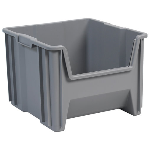 View a Larger Image of Akro-Mils Stak-N-Store Bin, Model 13018, Set of 2 - Gray
