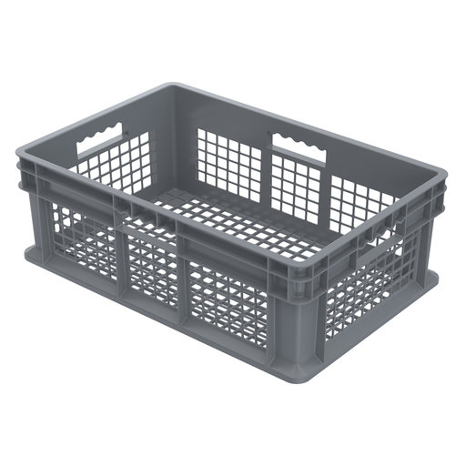 "View a Larger Image of Straight Wall Containers, Gray, 23.75"" L x 15.75"" W x 8.25"" H, Set of Four"