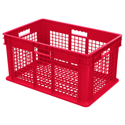 """View a Larger Image of Straight Wall Containers, Red, 23.75"""" L x 15.75"""" W x 12.25"""" H, Set of Three"""