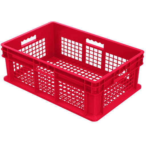 "View a Larger Image of Straight Wall Containers, Red, 23.75"" L x 15.75"" W x 8.25"" H, Set of Four"