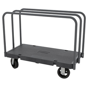 "Akro-Mils Versa/Deck ""D"" 3 Open Straight Bars, 24"" x 48"" with 8"" Mold-On Rubber Casters"