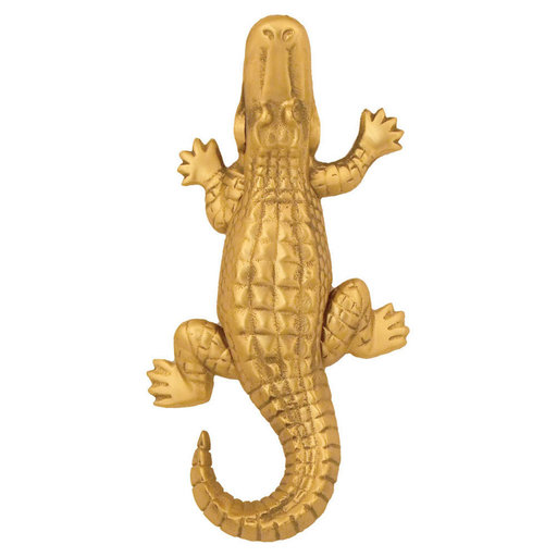 View a Larger Image of Alligator Door Knocker - Brass