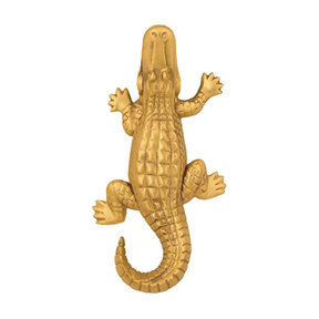 Alligator Door Knocker - Brass