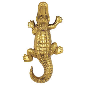 Alligator Doorbell Ringer - Brass