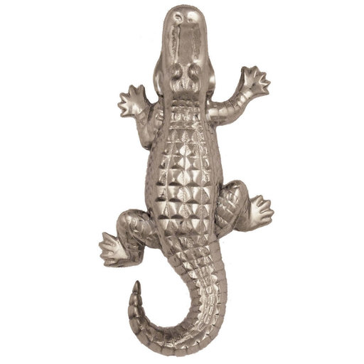 View a Larger Image of Alligator Doorbell Ringer - Nickel Silver