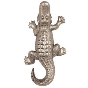 Alligator Doorbell Ringer - Nickel Silver