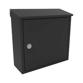 Allux 400 Top Loading Wall Mount Locking Mailbox in Black