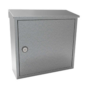 Allux 400 Top Loading Wall Mount Locking Mailbox in Galvaniz