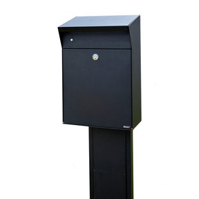 Allux Series Bjorn Wall Mounted Parcel Box in Black