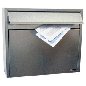 Allux Series LT150 Wall Mount Mailbox in Galvanized