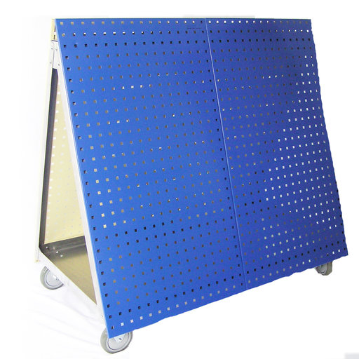View a Larger Image of  Aluminum Frame Tool Cart with Tray and Blue LocBoard
