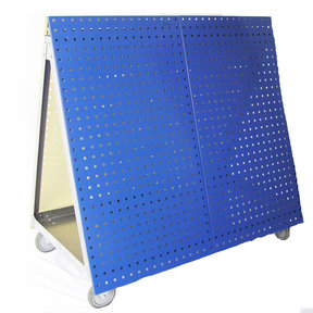 Aluminum Frame Tool Cart with Tray and Blue LocBoard