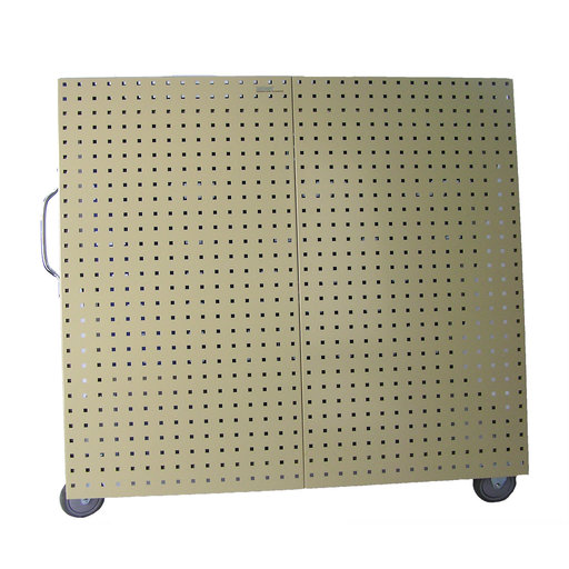 View a Larger Image of Aluminum Frame Tool Cart with Tray and Tan LocBoard