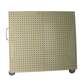 Aluminum Frame Tool Cart with Tray and Tan LocBoard