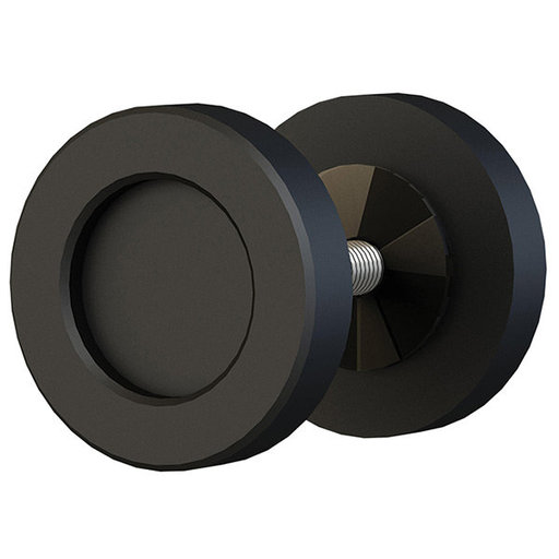 "View a Larger Image of  Black Matte 2"" Diameter Knob for Wood or Glass Doors"