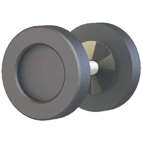 "Espresso 2"" Diameter Knob for Wood or Glass Doors"